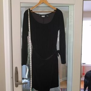 Vintage DKNY velvet wrap mini dress